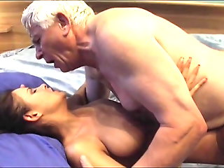 old & young, tits, big tits, kissing, pussy, tight pussy